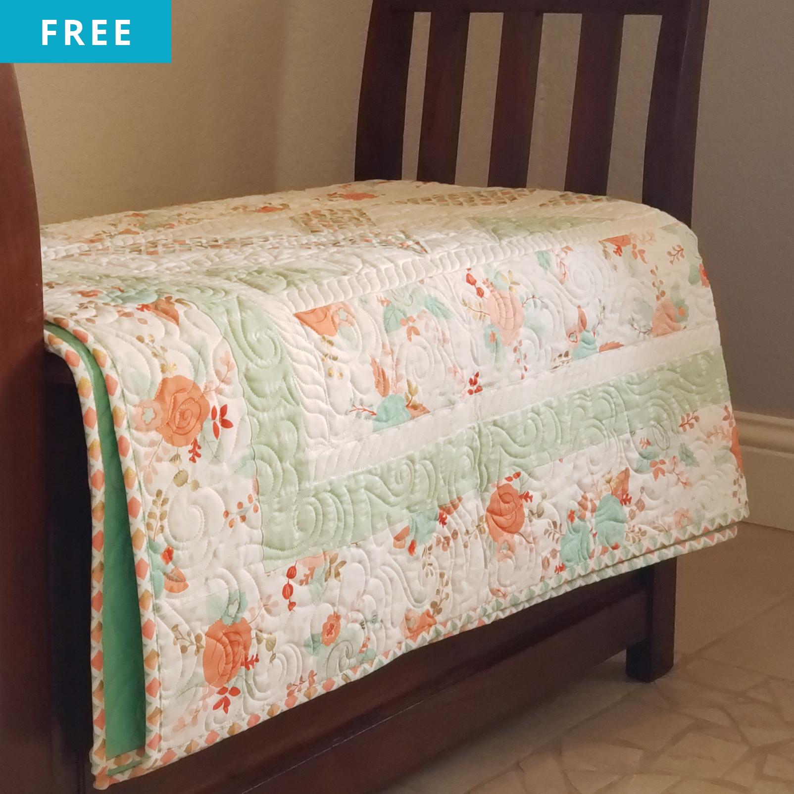 Free Quilt Pattern - Split Chevron Quilt