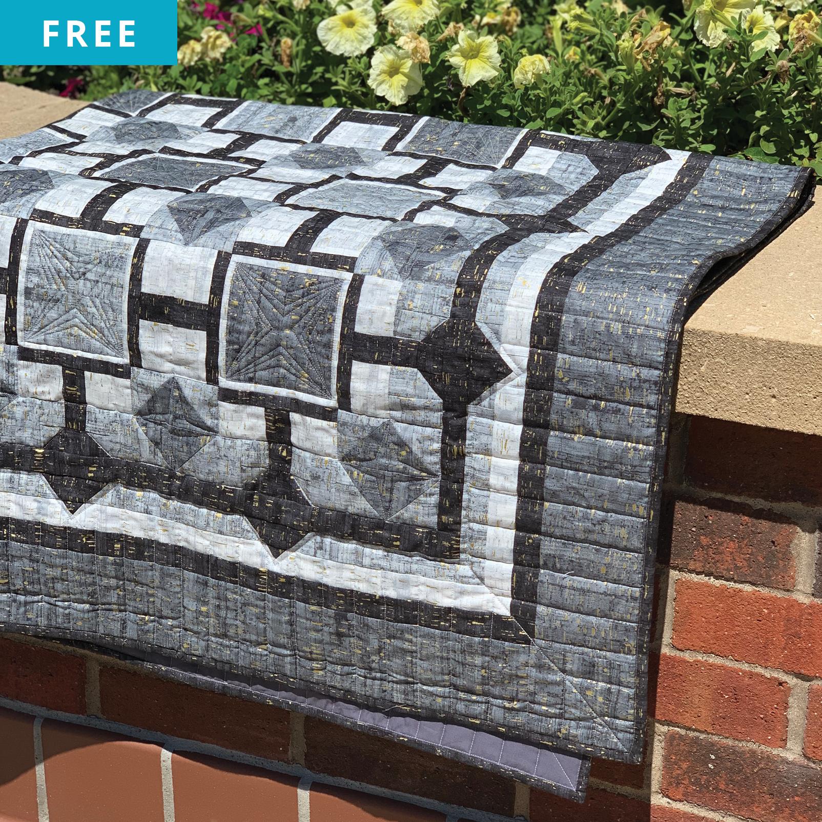 Free Quilt Pattern - Stone Garden Quilt