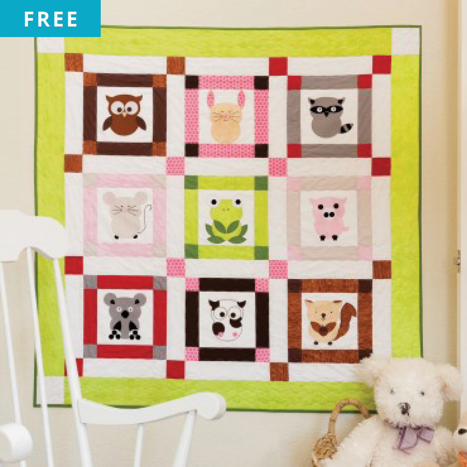Free Quilt Pattern - Talk to the Animals Quilt