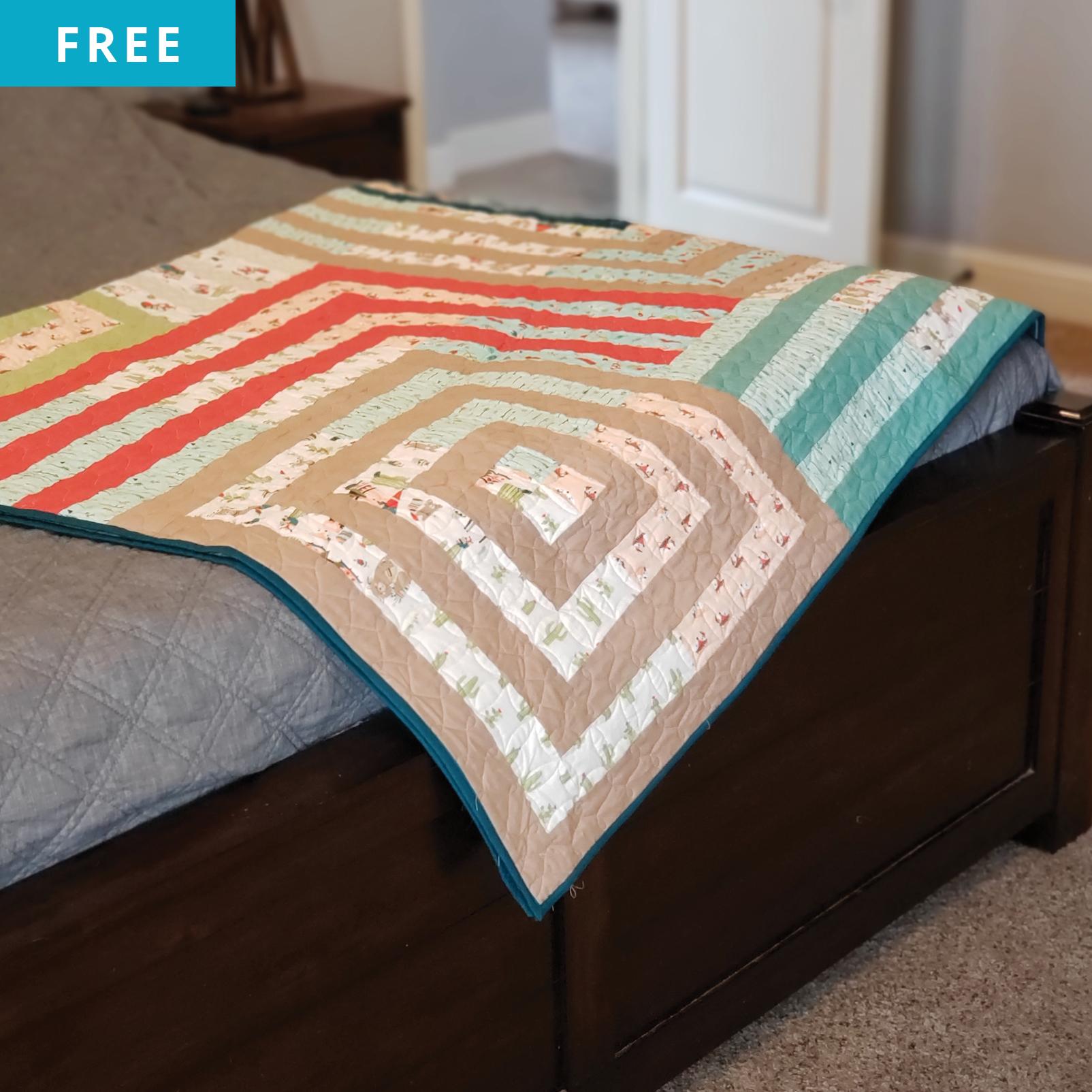 Free Quilt Pattern - Tetris Tumble Quilt