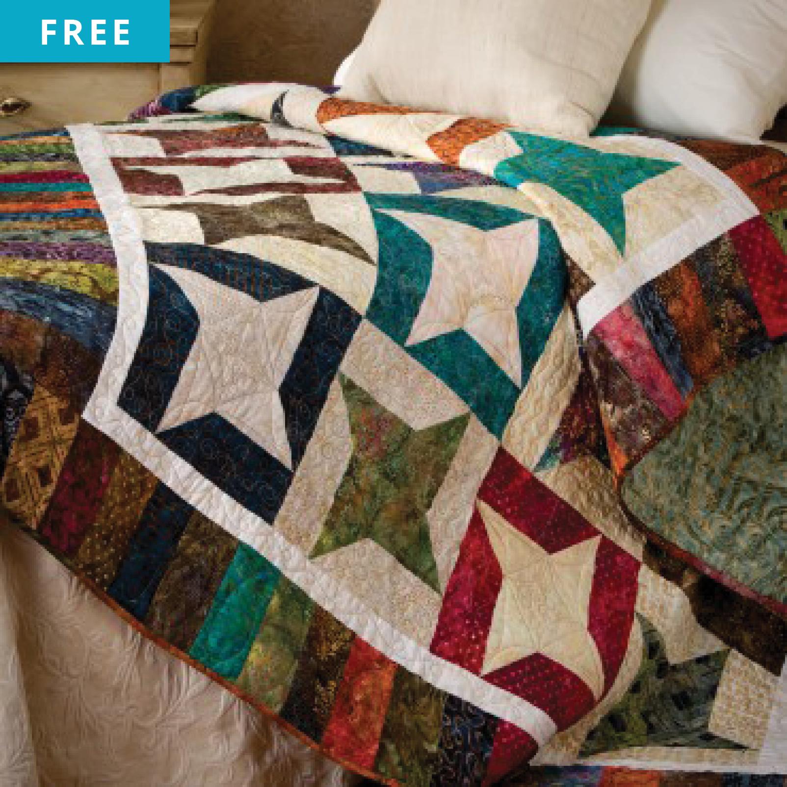 Free Quilt Pattern - Twirling Stars Quilt