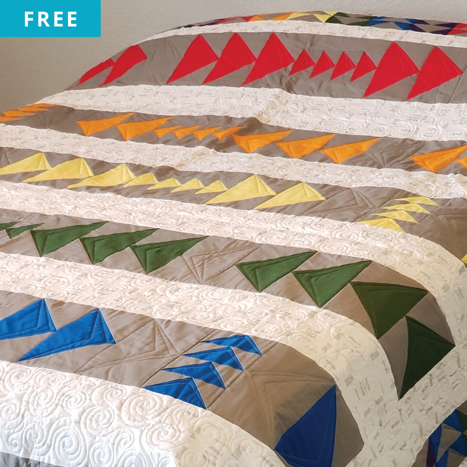Free Quilt Pattern - Flying Geese Frenzy Quilt
