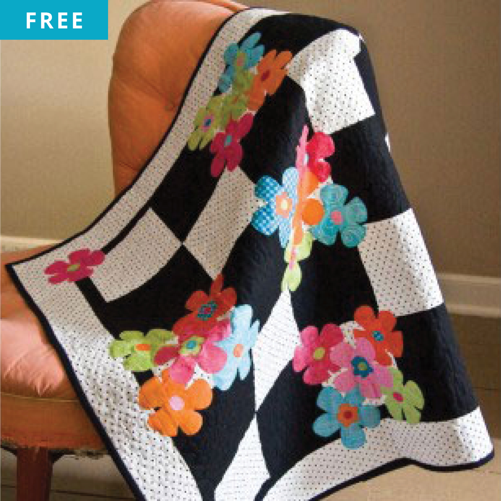 Free Quilt Pattern - Funky Flowers Quilt