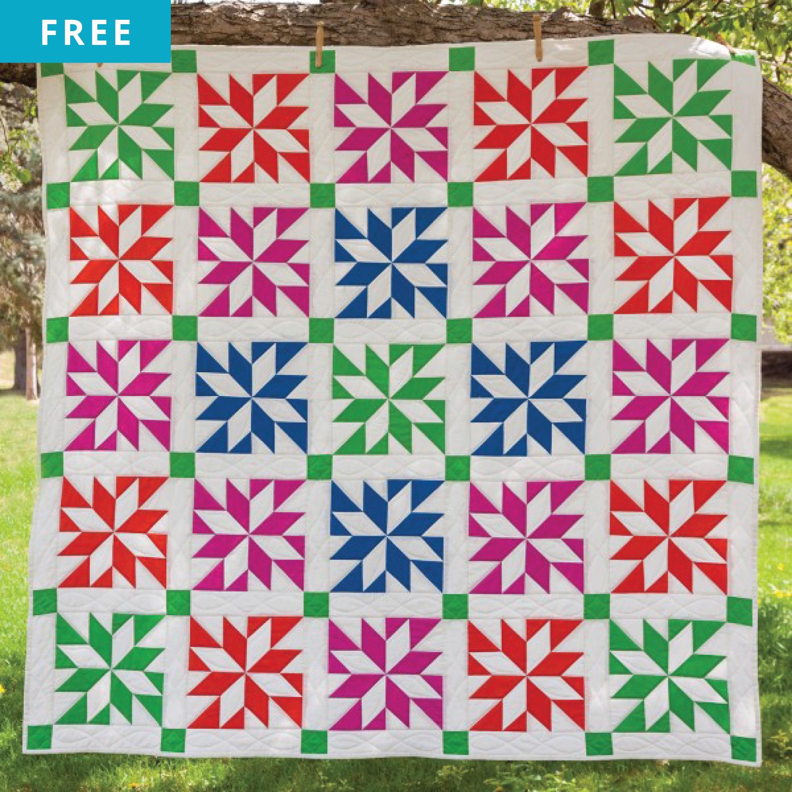 Free Quilt Pattern - LeMoyne Star Prism Quilt