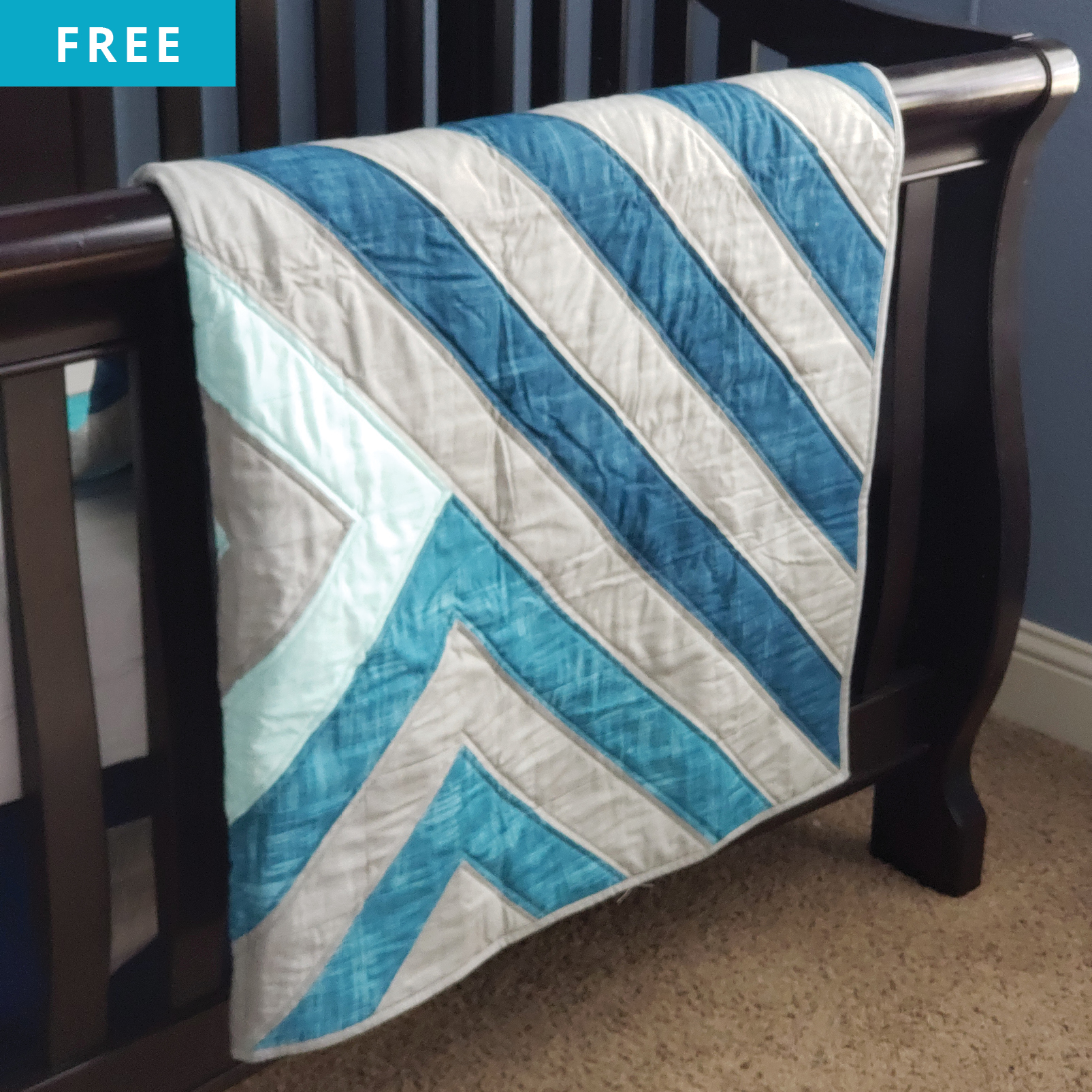 Free Quilt Pattern - Modern Angle Quilt