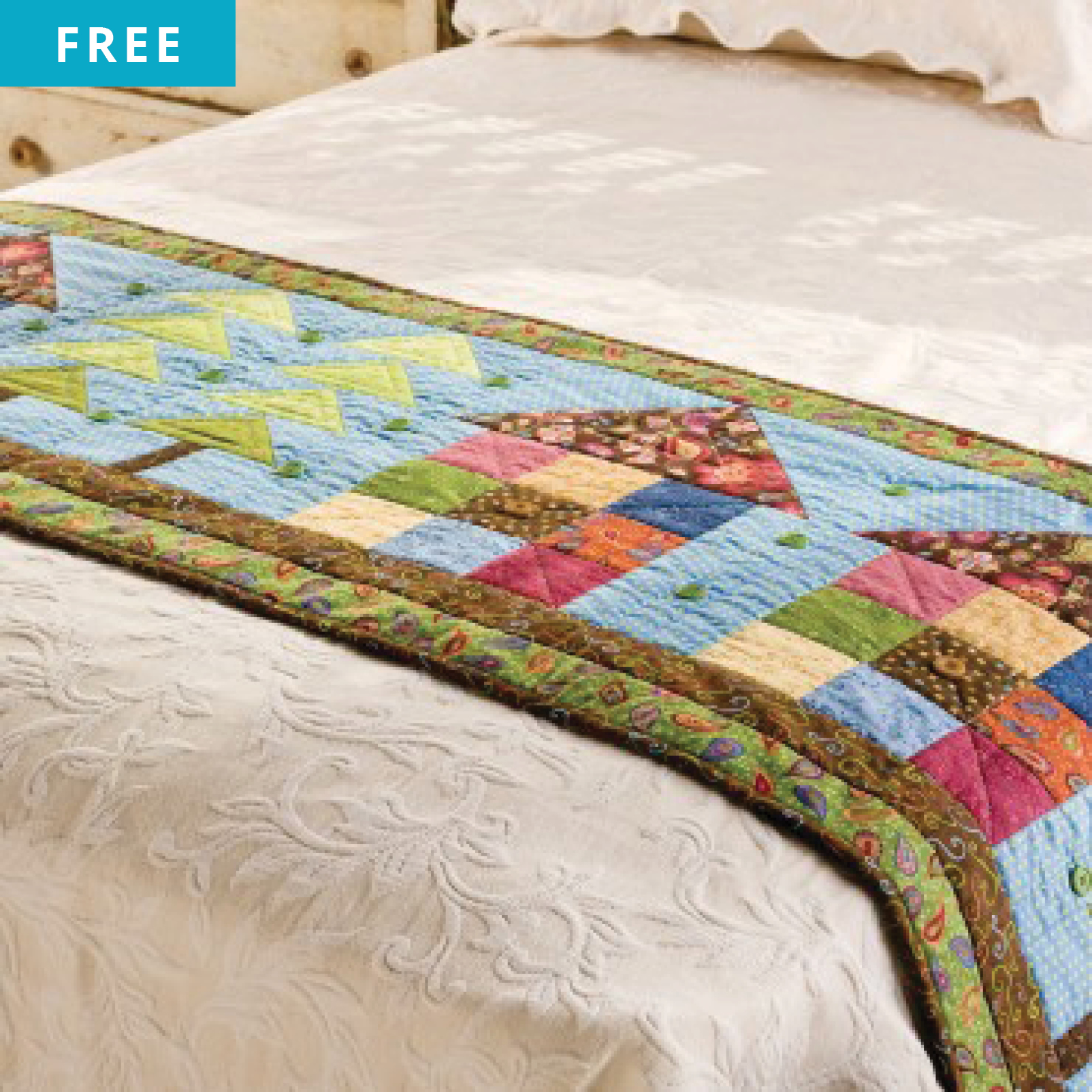 Pattern Freebies Go Row House Bed Runner Pattern Nqc