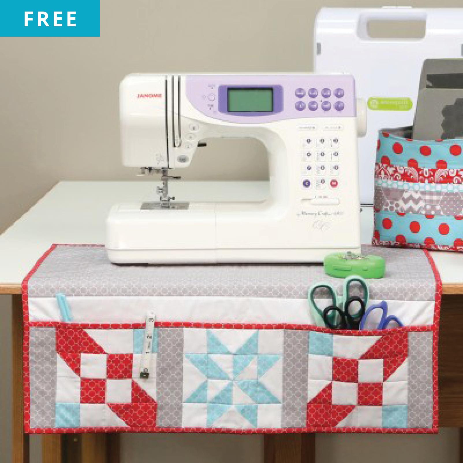 Free Quilt Pattern - Sewing Machine Organizing Mat