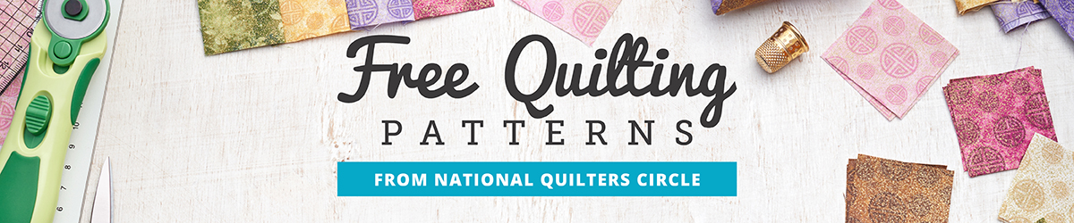 Free Quilting Patterns from National Quilters Circle