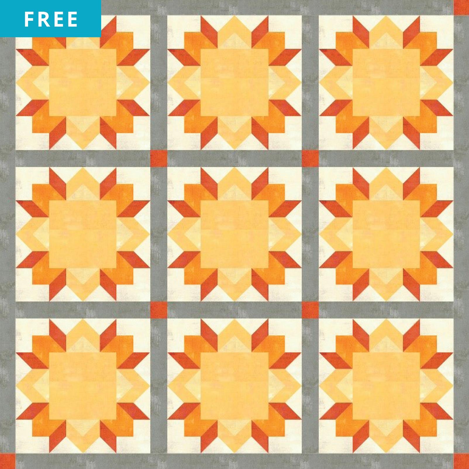 Free Quilt Pattern - Summer Sun