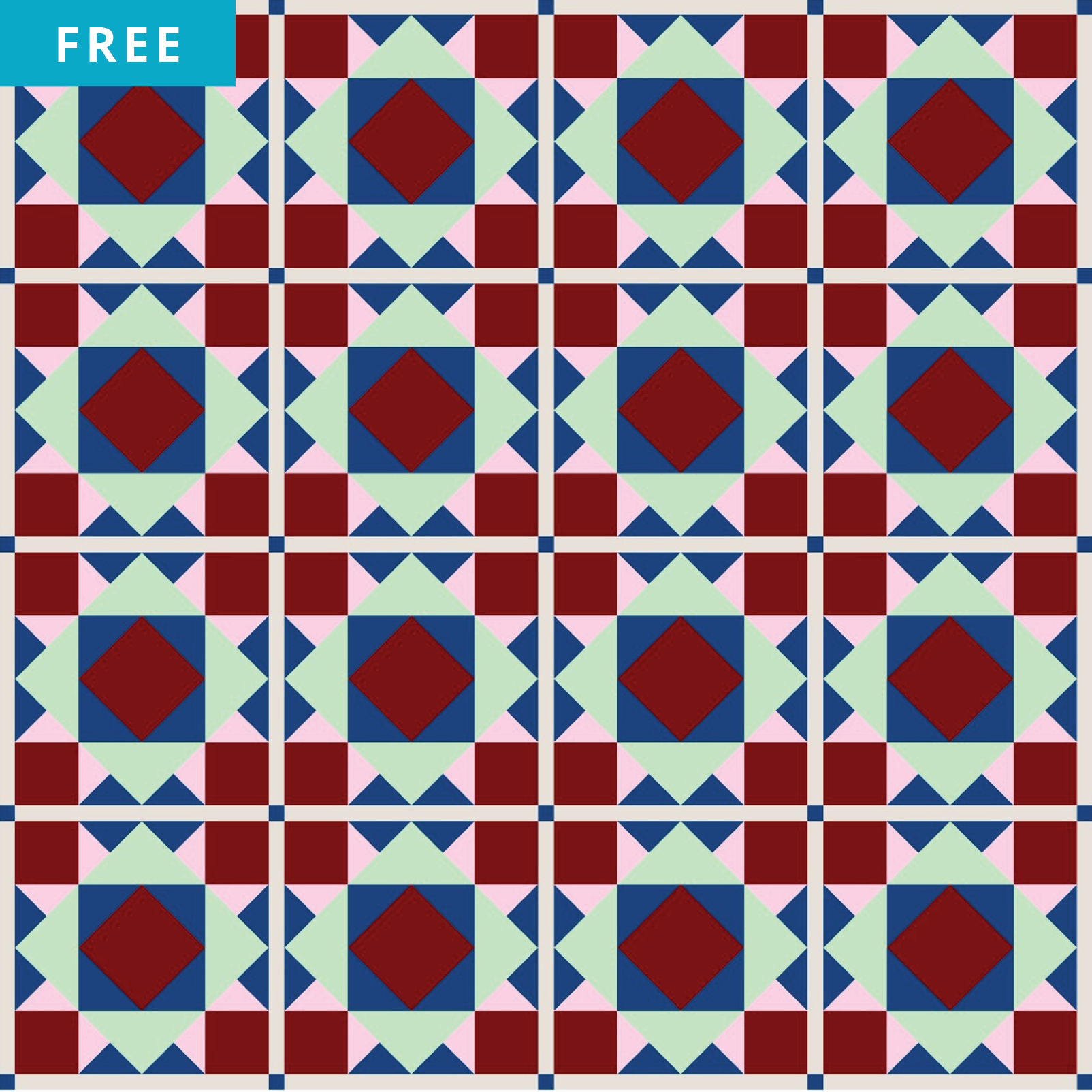 Free Quilt Pattern - Diamond in a Square