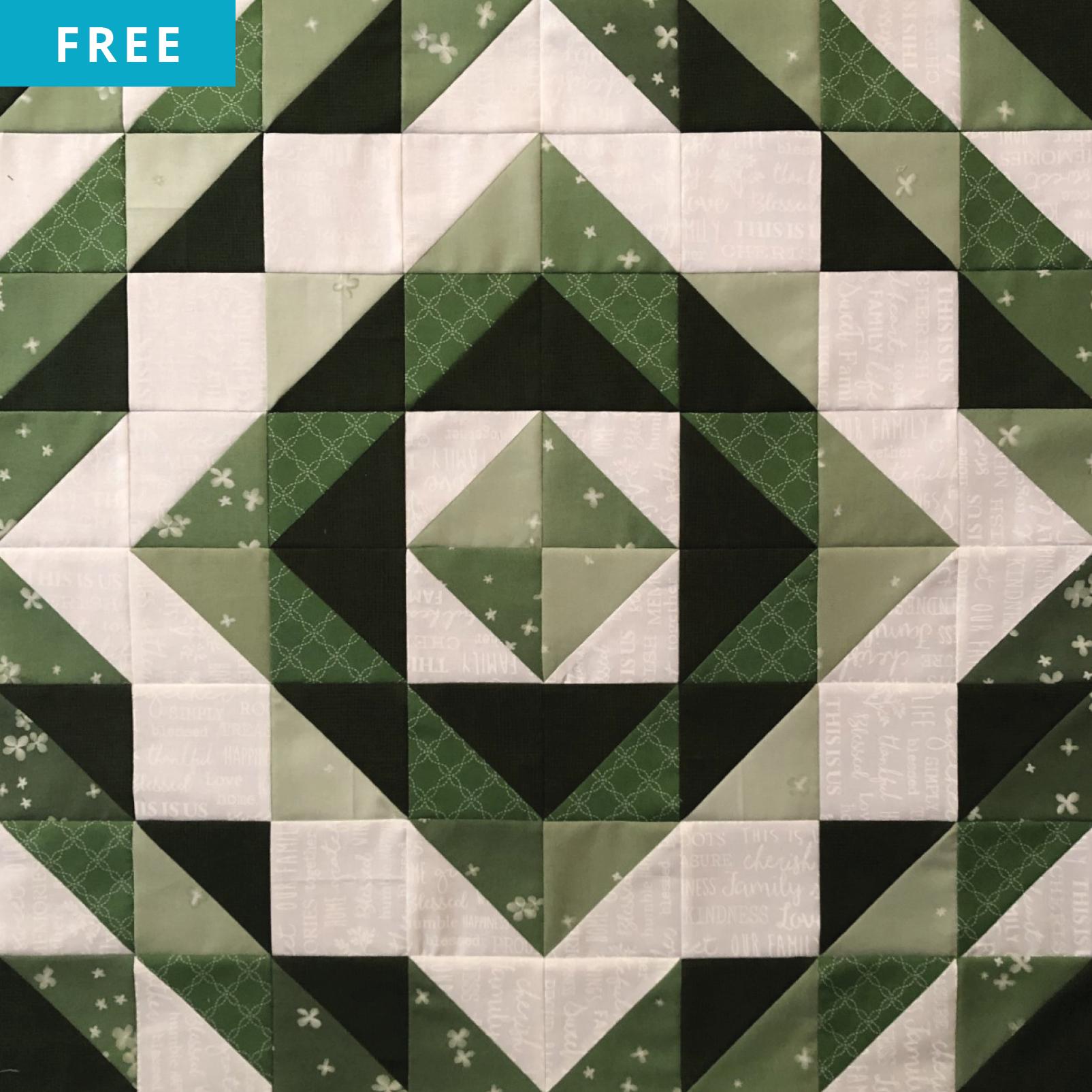 Free Quilt Pattern - Emerald Eyes