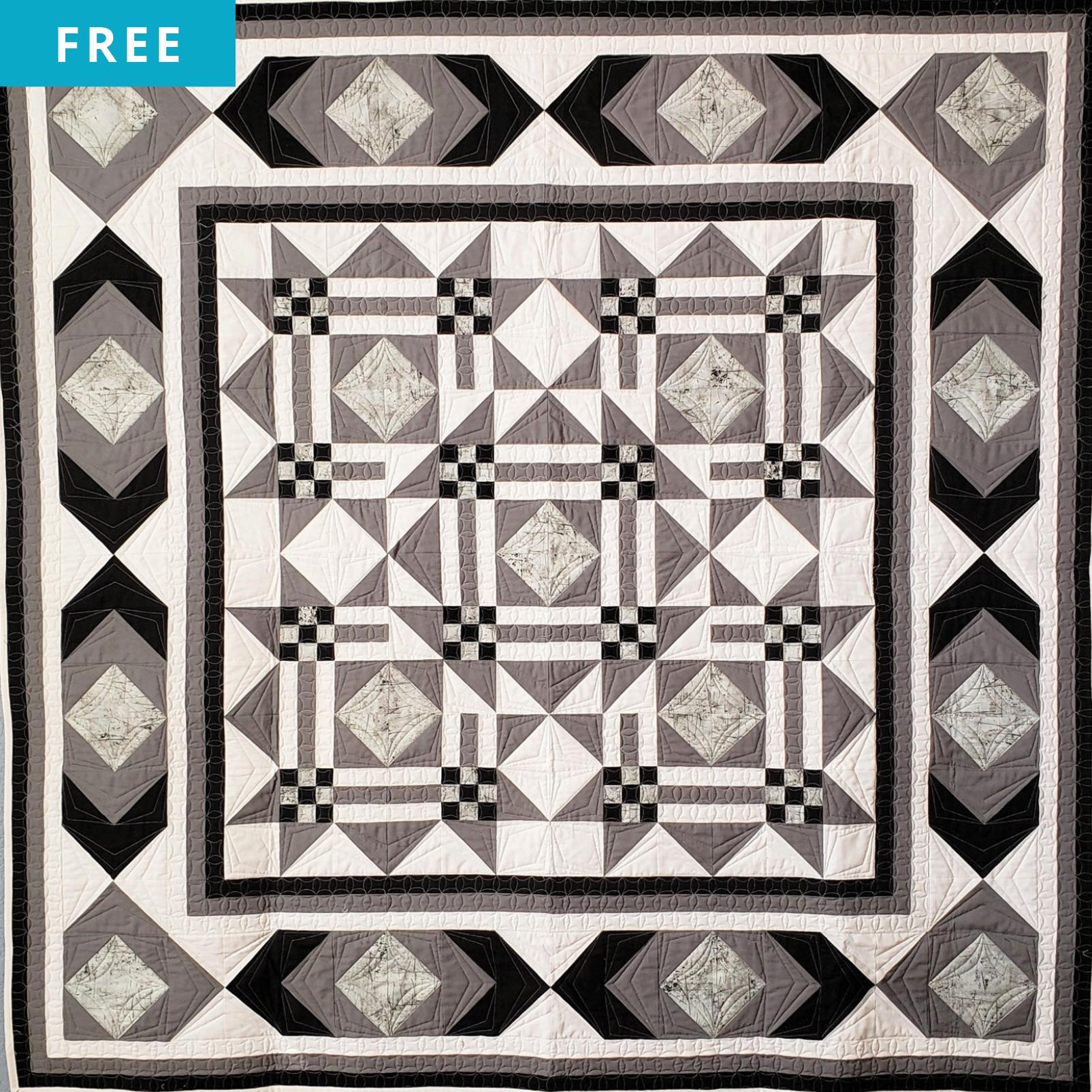 Free Quilt Pattern - Modern Geometry