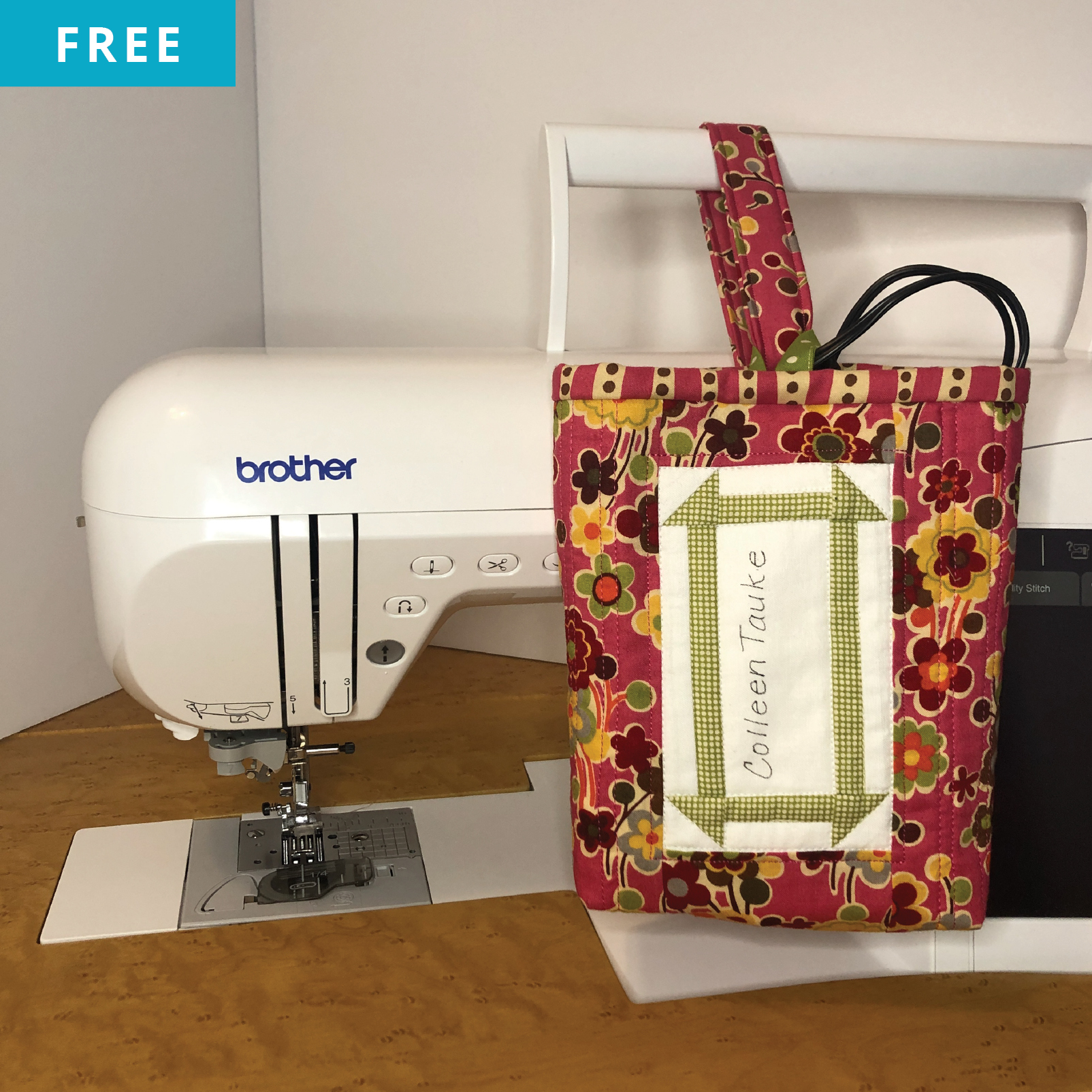 Free Quilt Pattern - Quilted Cord Keeper