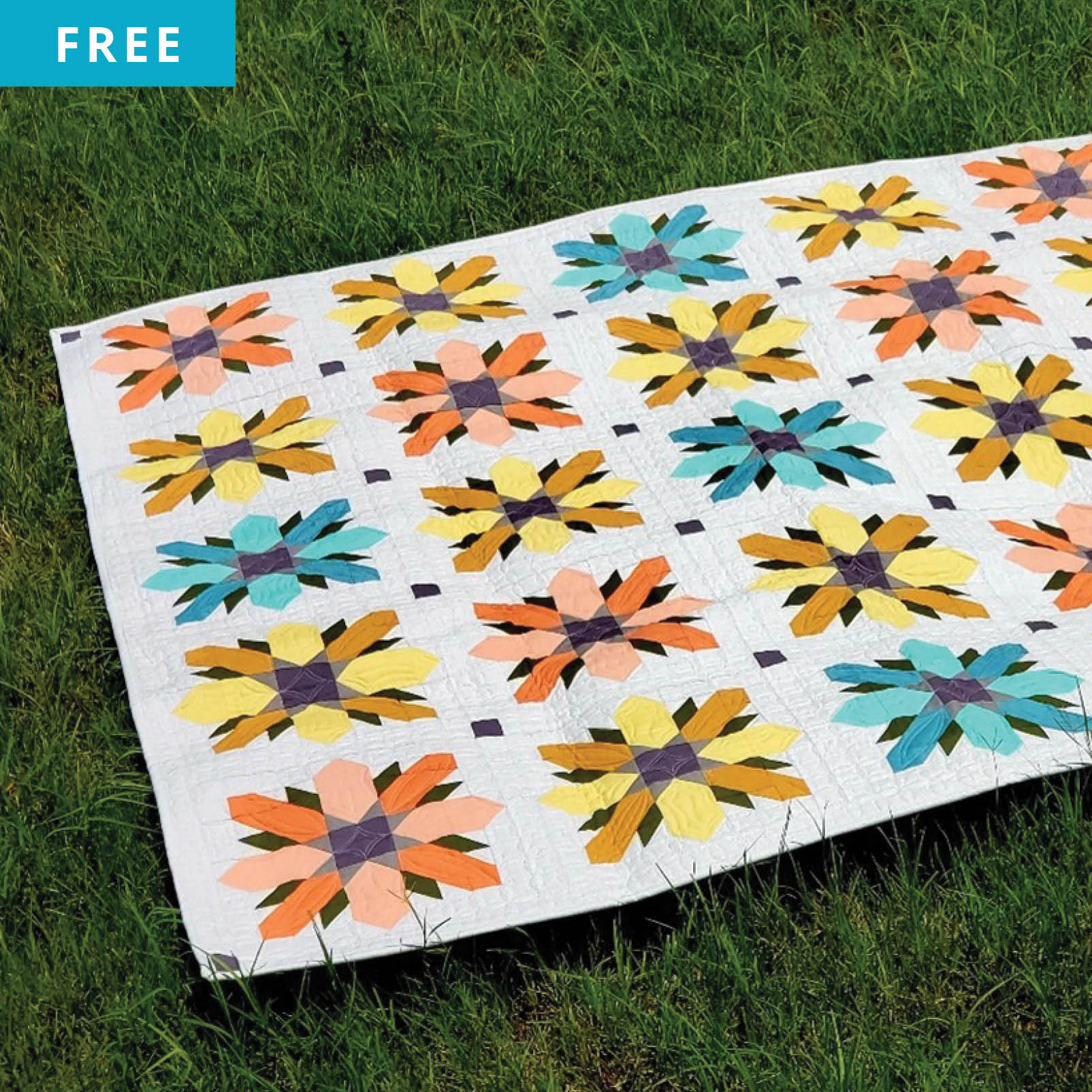 Free Quilt Pattern - Field of Flowers Quilt