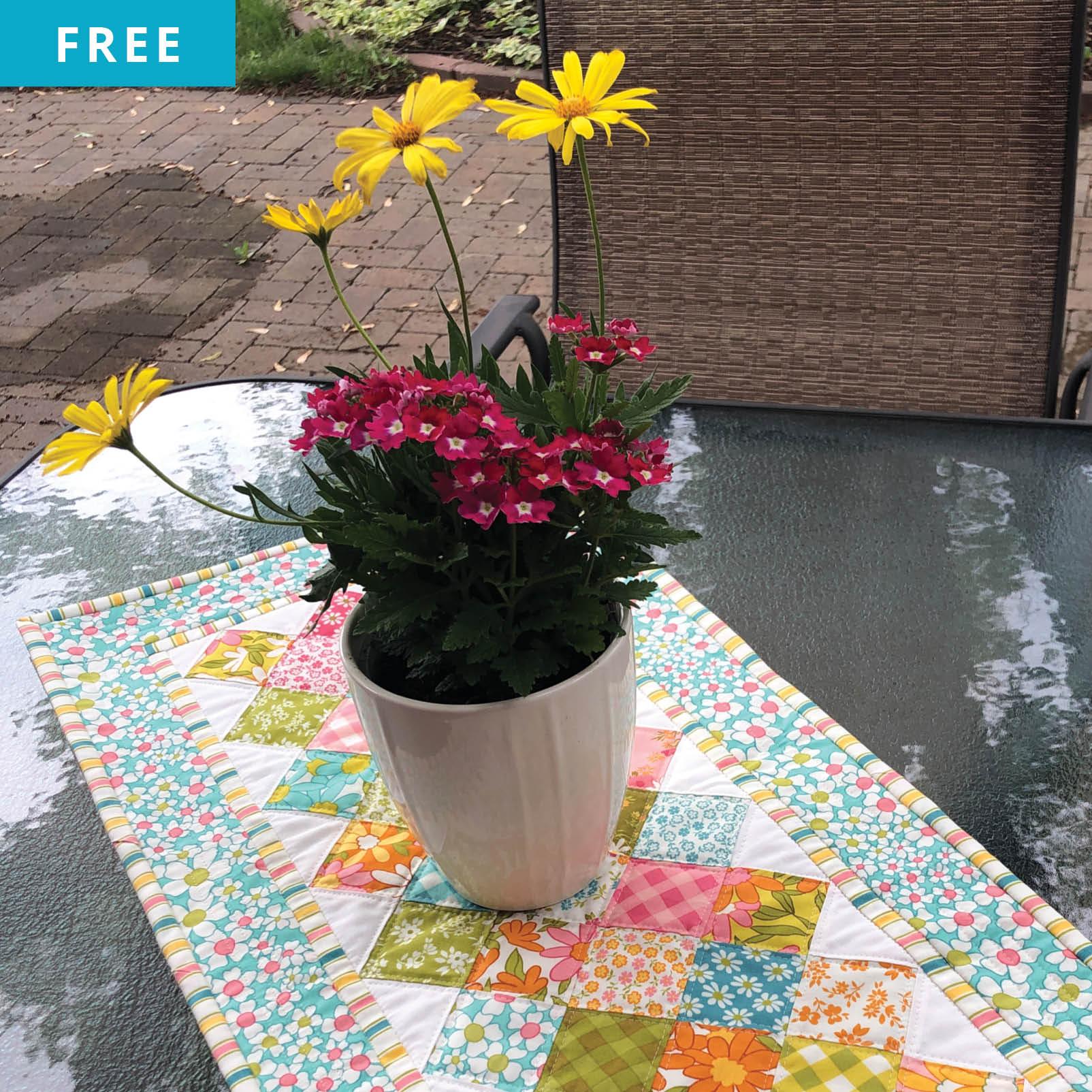 Free Quilt Pattern - Mini Charmer Table Runner
