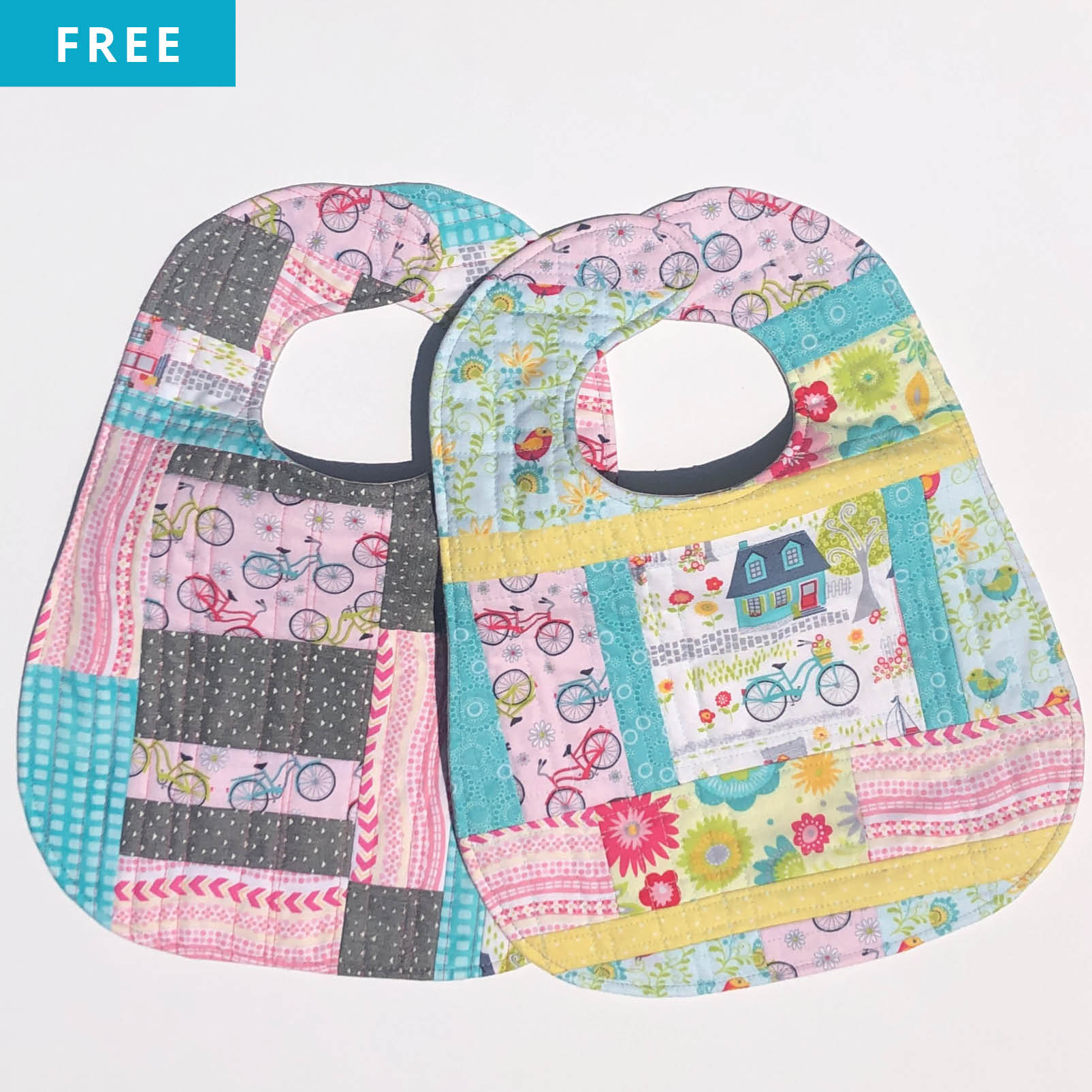 Free Quilt Pattern - Bib Building 101 - QAYG Method