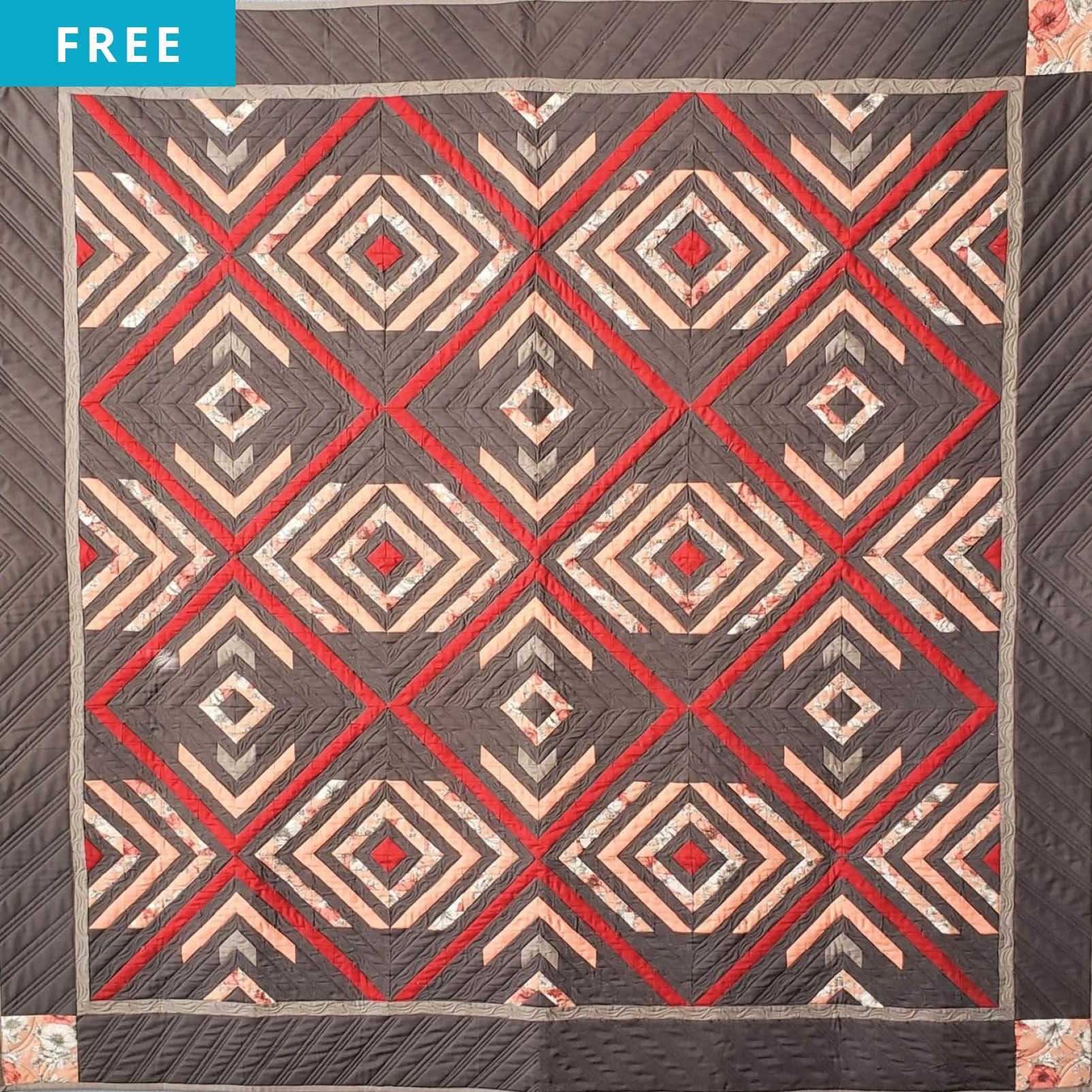 Free Quilt Pattern - Diamond Drop