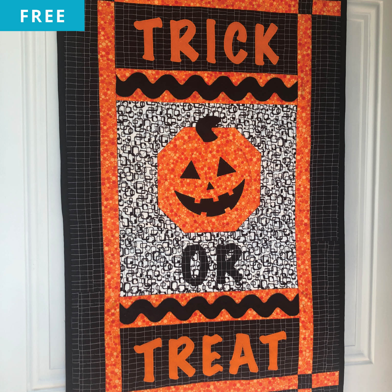 Free Quilt Pattern - It's a Treat Quilted Wall Hanging