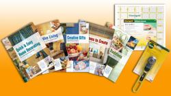 NQC K3023Q Creative Home Book Set + FREE Rotary Cutter & Grid Ruler