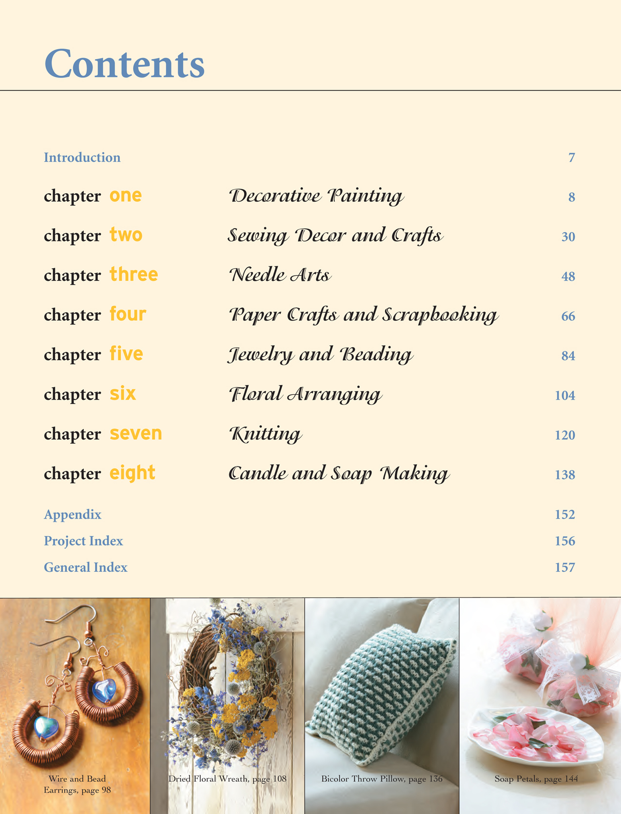 R4005B Craft Traditions TABLE OF CONTENTS