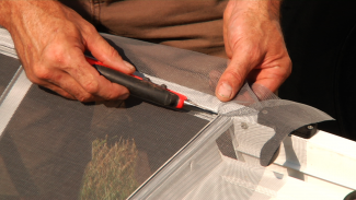 How to Replace a Door Screen in a RV