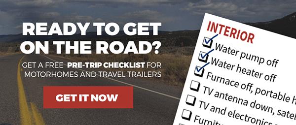 free RV pre-trip checklist