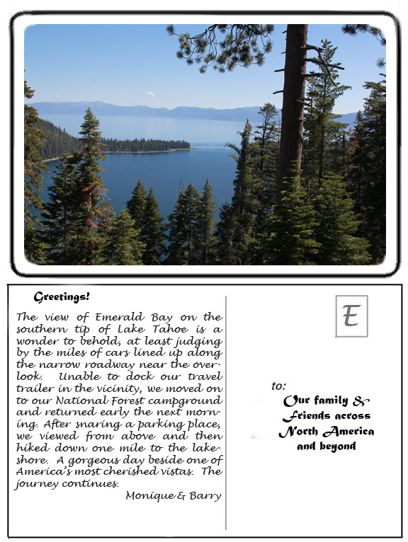 Lake Tahoe E-Postcard