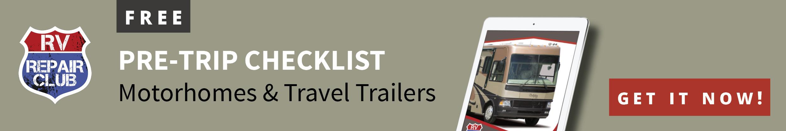 RV Pre-trip Checklist