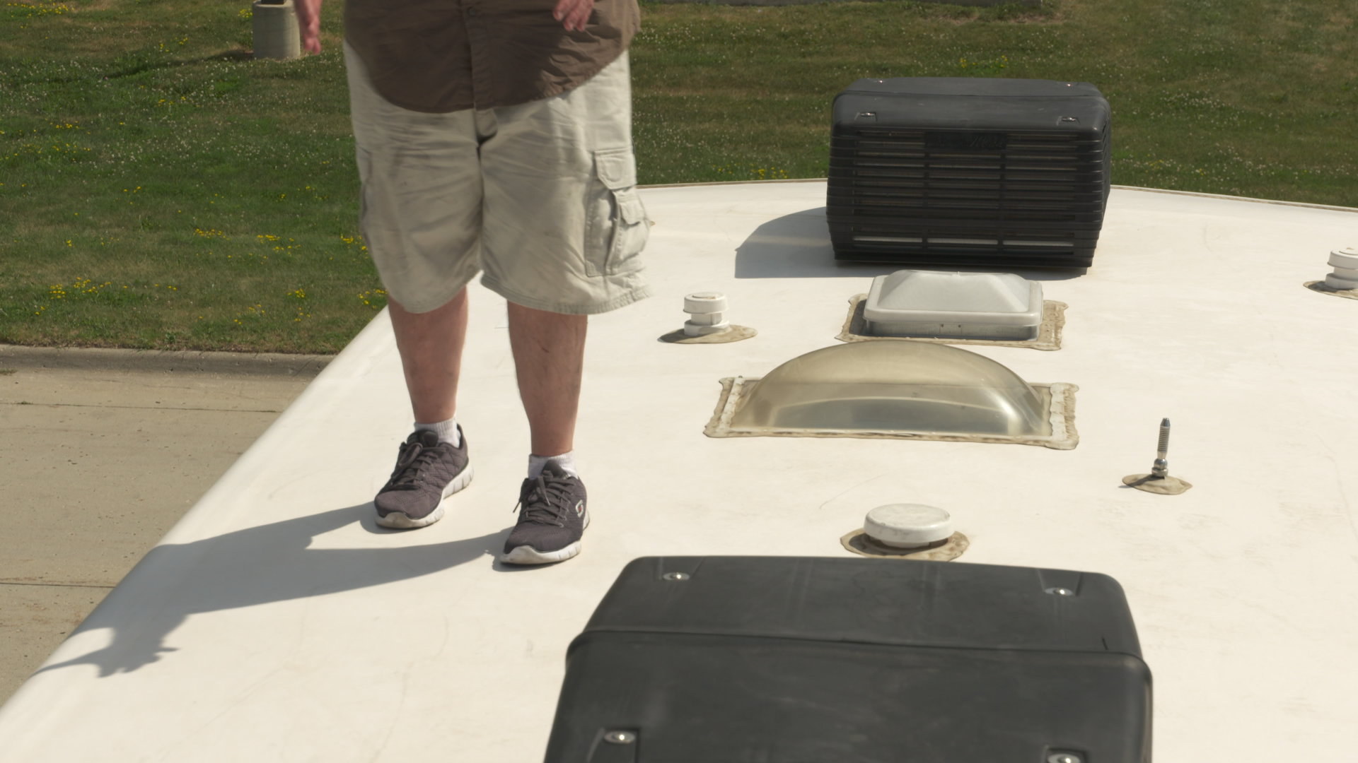 How and When to Walk on Your RV Roof