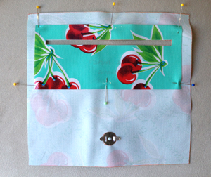 step 13 - oilcloth wallet pattern