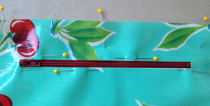 step 14 - oilcloth wallet pattern