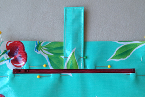 step 15 - oilcloth wallet pattern