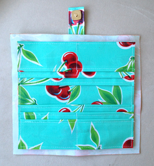step 18 - oilcloth wallet pattern