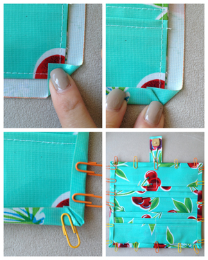 step 19 - oilcloth wallet pattern