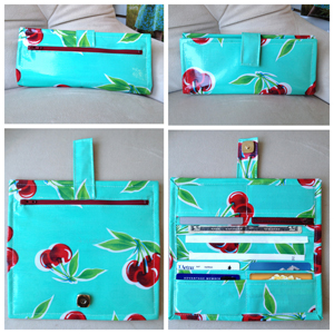 step 21 - oilcloth wallet pattern