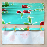 step 3 - oilcloth wallet pattern