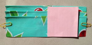 step 5 - oilcloth wallet pattern