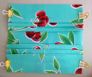 step 7 - oilcloth wallet pattern