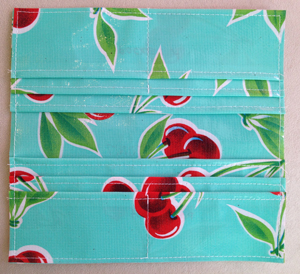 step 8 - oilcloth wallet pattern