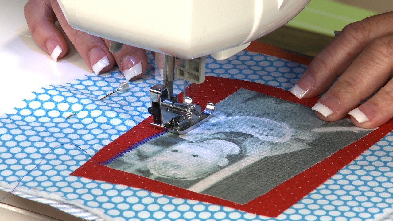 Using Photo Transfer And Scrap Fabric To Make A Wall Hanging