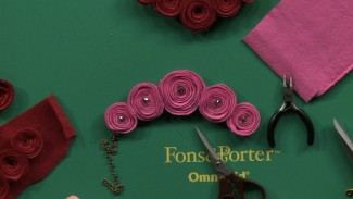 Sewing with Wool: Wool Rosette Necklace Making