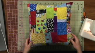 Fabric Scrap Projects: Patchwork Pillow Case