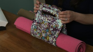 Sew a Yoga Mat Handle with Bias Tape