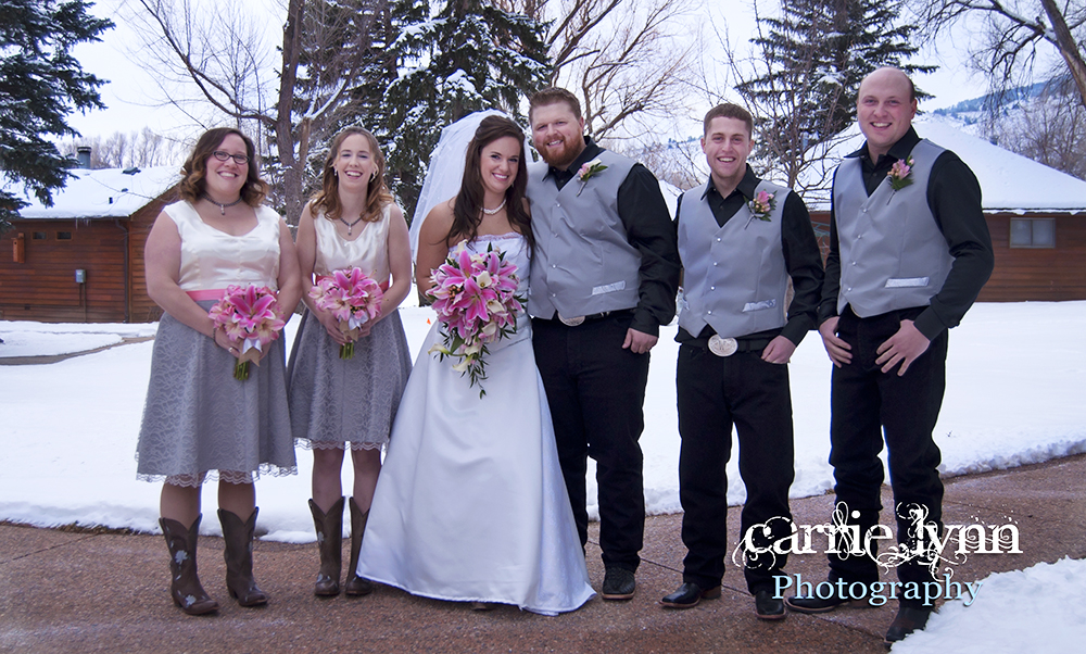 Caption: From left to right: Jessica Giardino, Lindsay Briggs, Ashley Hough, Chad Hough, Jeff Williams, and Brett Arnzen. © Carrie Lynn Photography