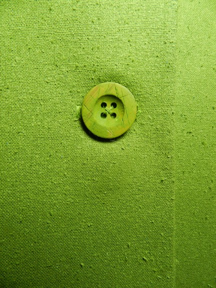 green painted button