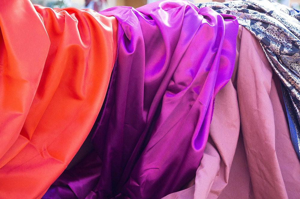 draped silk