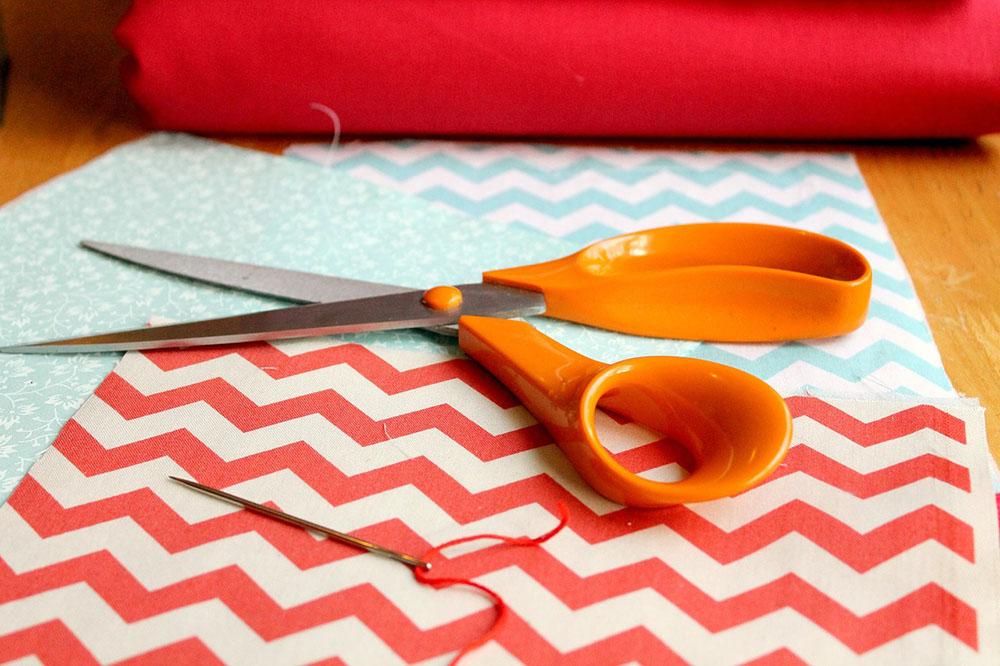 fabric and scissors