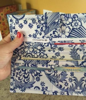 kate oilcloth wallet - cropped