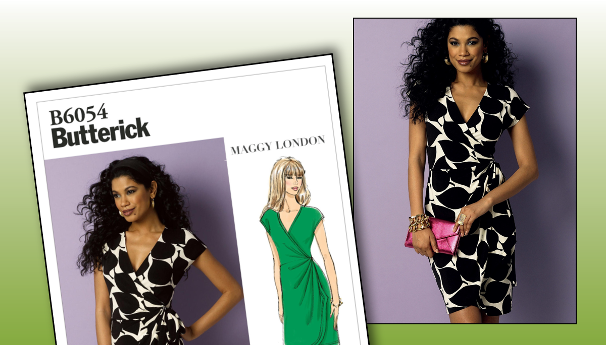 d71fa1603fd5 Butterick Misses' Pleated Wrap Dress Pattern | National Sewing Circle