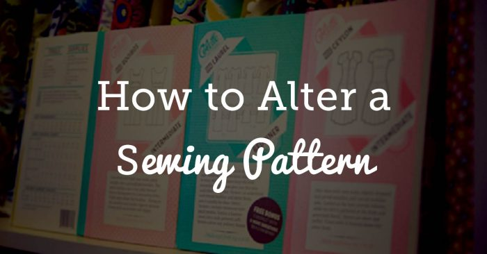 How to Alter a Sewing Pattern
